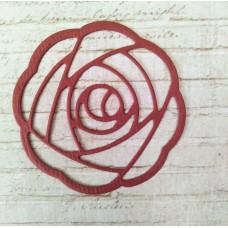 "Вырубка ""Роза"" 4,8х4,8. Цвет бордо"