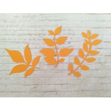 """Набор """"Листики"""" 3 шт. Цвет оранжевый"""