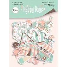 Набор высечек для скрапбукинга 49шт  Happy Days от Scrapmir